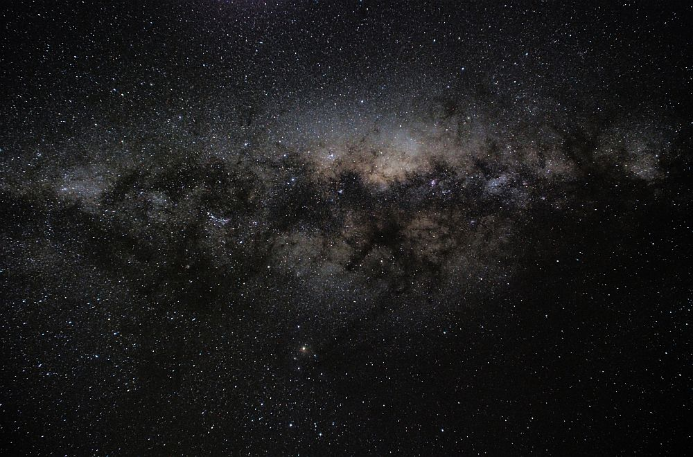 The Milky Way stretches overhead in this view taken at the Bathurst Observatory Research Facility - 6th July 2013