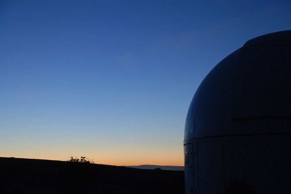 Bathurst Observatory in evening